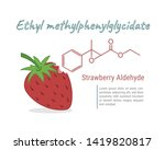strawberry aldehyde chemical... | Shutterstock .eps vector #1419820817
