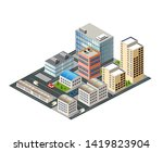 cityscape design elements with... | Shutterstock .eps vector #1419823904