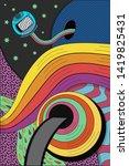psychedelic hallucination.... | Shutterstock .eps vector #1419825431