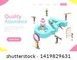 isometric flat vector landing... | Shutterstock .eps vector #1419829631