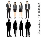 set of silhouettes of men and... | Shutterstock .eps vector #1419843467