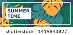 colorful summer banner with... | Shutterstock .eps vector #1419843827