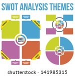 swot analysis themes vector | Shutterstock .eps vector #141985315
