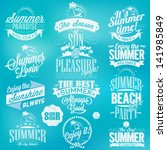 retro elements for summer... | Shutterstock .eps vector #141985849
