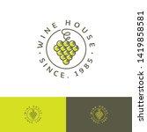 wine house logo. wine logo... | Shutterstock .eps vector #1419858581