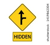 sa traffic road signs.driver on ...   Shutterstock .eps vector #1419862304