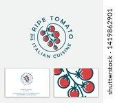ripe tomato logo. italian... | Shutterstock .eps vector #1419862901