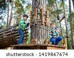 two little boy boys kid in a... | Shutterstock . vector #1419867674