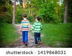 childhood  hiking  family ... | Shutterstock . vector #1419868031