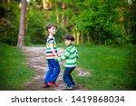 childhood  hiking  family ... | Shutterstock . vector #1419868034