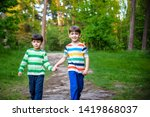 childhood  hiking  family ... | Shutterstock . vector #1419868037