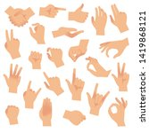 gesturing hands. hand with... | Shutterstock .eps vector #1419868121