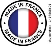 made in france flag icon   Shutterstock .eps vector #1419868601