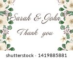 wedding invitation leaves and... | Shutterstock .eps vector #1419885881
