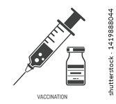 icon plastic medical syringe...   Shutterstock .eps vector #1419888044