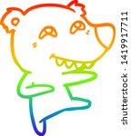 rainbow gradient line drawing... | Shutterstock .eps vector #1419917711