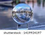 Crystal Ball Of Boats Docked A...