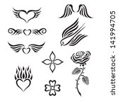 set of tribal tattoo including... | Shutterstock .eps vector #141994705