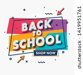 back to school   colorful... | Shutterstock .eps vector #1419951761