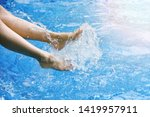 enjoy beautiful girl relaxing... | Shutterstock . vector #1419957911