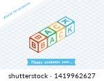 welcome back to school.... | Shutterstock .eps vector #1419962627