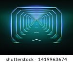 endless tunnel optical illusion ... | Shutterstock .eps vector #1419963674