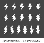 lightning and thunder icon set... | Shutterstock .eps vector #1419980657