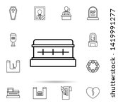 funeral  coffin icon. universal ...   Shutterstock .eps vector #1419991277