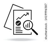 document like auditing. concept ... | Shutterstock .eps vector #1419996587