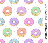 Kawaii Donuts Seamless Pattern...