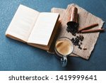 table top photo of coffee cups... | Shutterstock . vector #1419999641