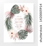 summer invitation design card... | Shutterstock .eps vector #1420005914