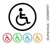 wheelchair handicap icon in...   Shutterstock .eps vector #142000957