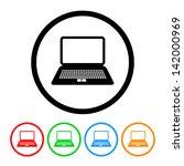 laptop computer icon in vector...   Shutterstock .eps vector #142000969