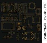 set of art deco shapes.... | Shutterstock .eps vector #1420010441
