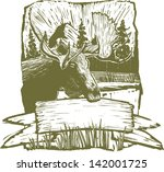 woodcut style illustration of a ... | Shutterstock .eps vector #142001725