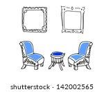 doodle living room | Shutterstock .eps vector #142002565