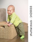 a very cute 8 9 months old baby ... | Shutterstock . vector #1420033