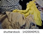 pile of clothes. closedup of...   Shutterstock . vector #1420040921