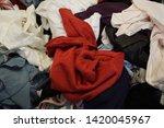 pile of clothes. closedup of...   Shutterstock . vector #1420045967