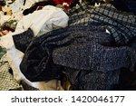 pile of clothes. closedup of...   Shutterstock . vector #1420046177