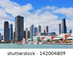 chicago city downtown urban... | Shutterstock . vector #142004809