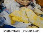 pile of clothes. closedup of...   Shutterstock . vector #1420051634