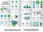 modern infographic set with... | Shutterstock .eps vector #142005604