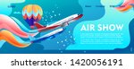 banner of airshow  in the... | Shutterstock .eps vector #1420056191