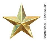 golden christmas star isolated... | Shutterstock . vector #1420058204