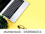 laptop and other objects placed ... | Shutterstock . vector #1420066211