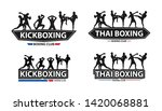 vector kickboxing with thai... | Shutterstock .eps vector #1420068881