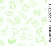 vector seamless pattern with...   Shutterstock .eps vector #1420077941