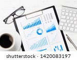 office workplace table with... | Shutterstock . vector #1420083197